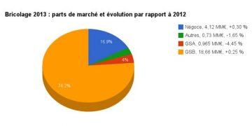 Parts de marché bricolage 2013