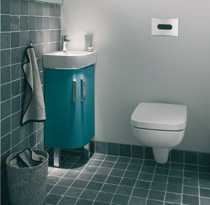 Prima style compact un meuble simple et original sdbpro for Meuble lave main d angle wc
