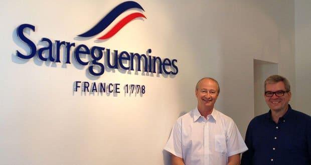 Hervé Pagazani et Michel Brandicourt, gérant et directeur général adjoint de Sarreguemines France 1&78