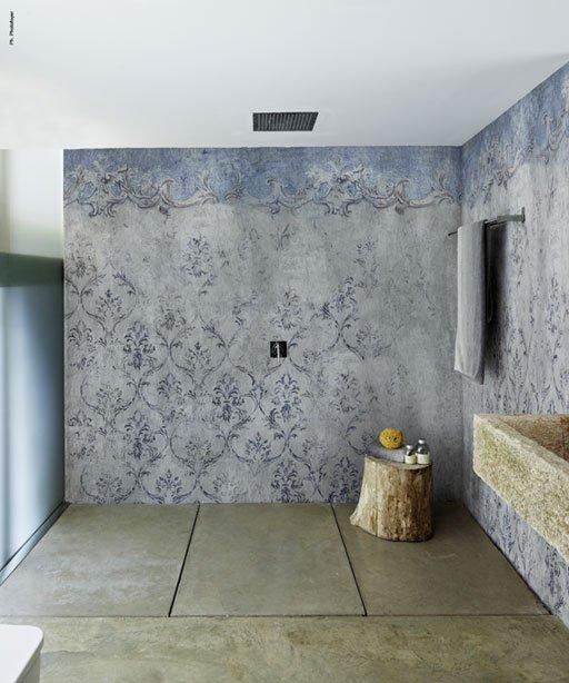 Cersaie 2014 un petit cru pour la salle de bains sdbpro - Papier peint pour douche ...