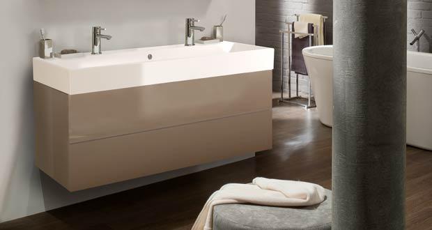 meuble salle de bain marron glacé