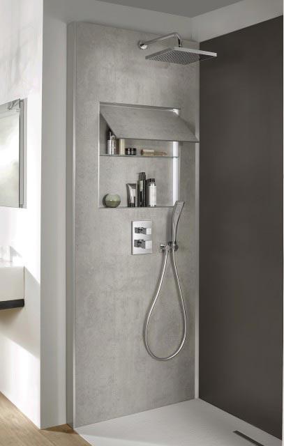 Ecrin de jacob delafon panneau technique et d co pour la douche - Panneau douche italienne ...