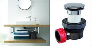 bonde de lavabo nano de Wirquin pro seule et en ambiance