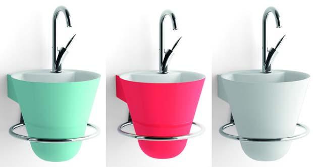 cone de decotec un lave mains la ligne harmonieuse. Black Bedroom Furniture Sets. Home Design Ideas