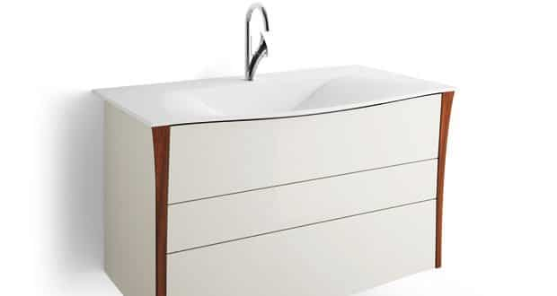 Bellagio de decotec solid surface noyer massif et laque for Salle de bain decotec