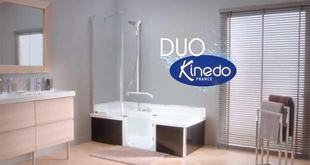 kinedo offre une campagne t l la baignoire douche porte. Black Bedroom Furniture Sets. Home Design Ideas