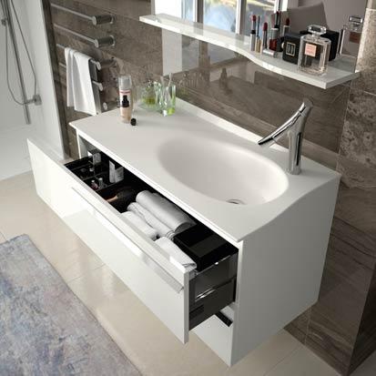 Joya d 39 ambiance bain un plan de toilette galb sdbpro - Meuble salle de bain etroit ...
