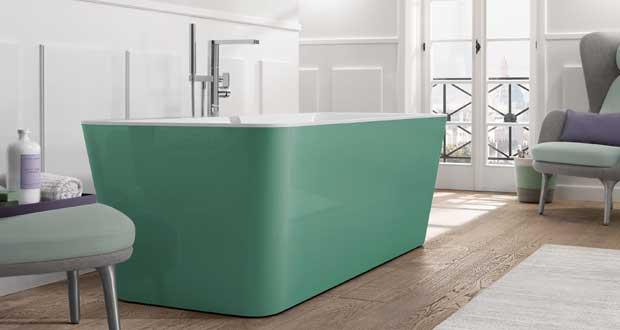 La couleur gagne trois baignoires villeroy boch sdbpro for Baignoire en couleur