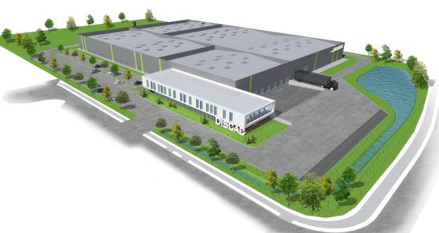 Construction usine Discac