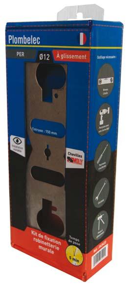 plombelec kit de fixation de robinetterie s cable sdbpro. Black Bedroom Furniture Sets. Home Design Ideas