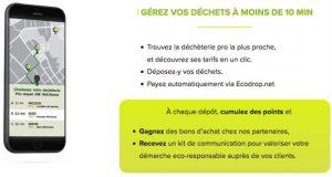 appli gérer les déchets de chantier ecodrop
