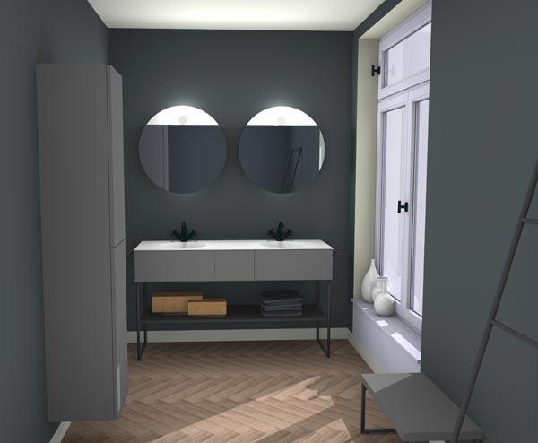 La 3d met la r alit virtuelle la port e des concepteurs de salle de bains - Outil 3d salle de bain ...