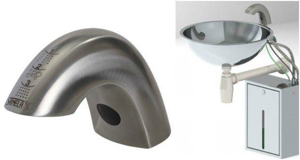 Robinet électronique distributeur de savon Sanela