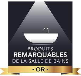 Palmarès 2017 des Produits remarquables de la salle de bains or