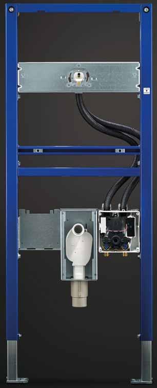 le bati support associé à la robinetterie électronique Brenta et Piave de Geberit