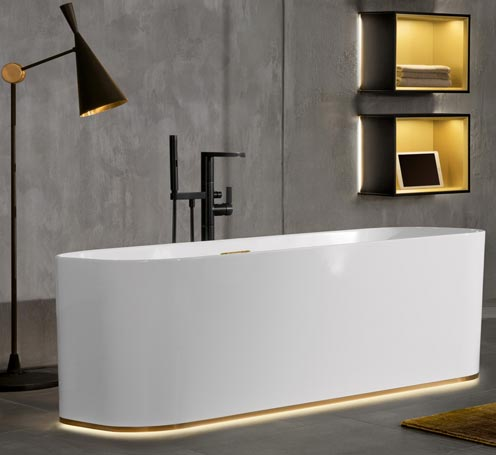 Baignoire Finion de VIlleroy & Boch finition gold