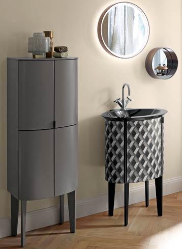 le lave-mains de la collection de meuble de salle de bains Diva 2.0 de Burgbad