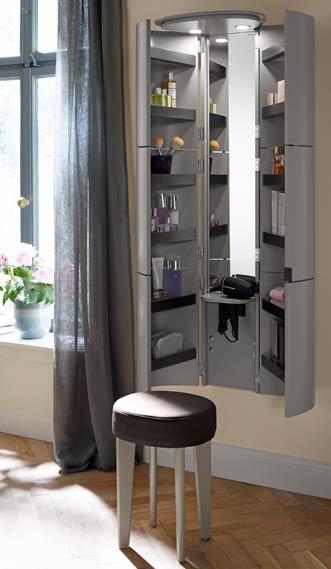 La colonne coiffeuse de la collection de meuble de salle de bains Diva 2.0 de Burgbad