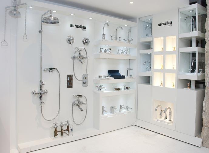 robinetterie stella, présentation de la gamme à la boutique SEH Halimi à Paris