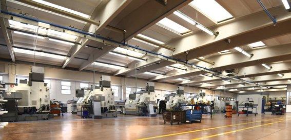 robinetterie stella, vue de l'usine et des machines outils