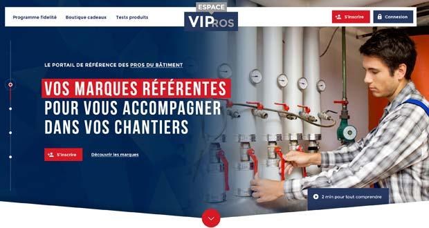 Image du site du programme de fidélisation VIPros