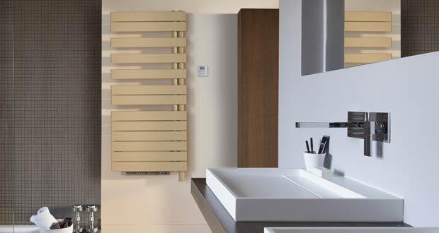 Sèche-serviettes Fasssane beige d'Acova avec soufflant bien intégré
