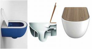 Trois vues différentes de la cuvette WC The One de Art Ceram