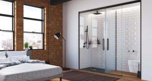 Tiny Bathrooms de Profiltek : cloisonner la salle de bains dans la chambre avec le verre