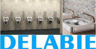 Delabie ajoute le design à la fonction dans les sanitaires publics