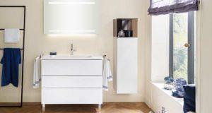 Meuble de salle de bains Free de Burgbad, en blanc