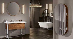 La salle de bains Antheus de Villeroy & Boch, avec le meuble et la baignoire ilot