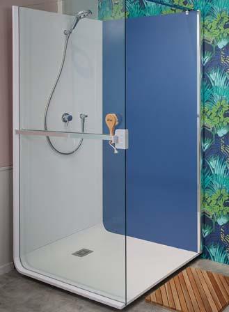 Cabine de douche Elmer bleue