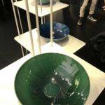 Vasque Alape en acier émaillé vert, Tendance Milan 2018 au point d'eau