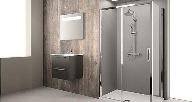 Ambiance douche avec une colonne Olyos de Porcher