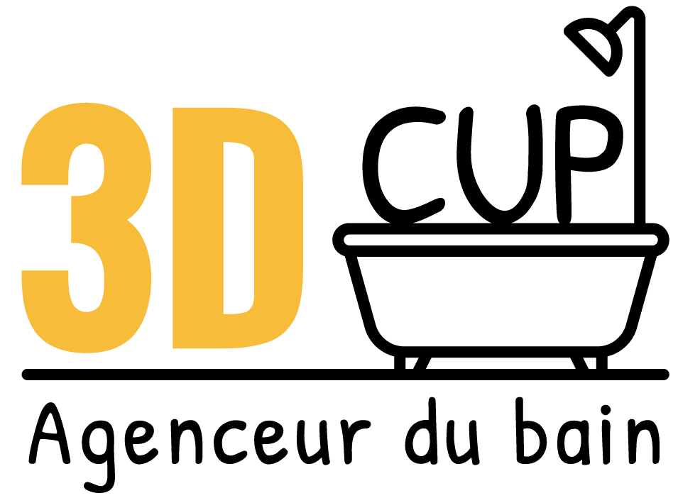Logo 3D Cup Agenceur du Bain