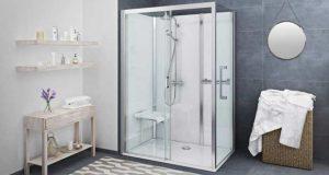 La douche Vinata de Roth, qui remplace une baignoire