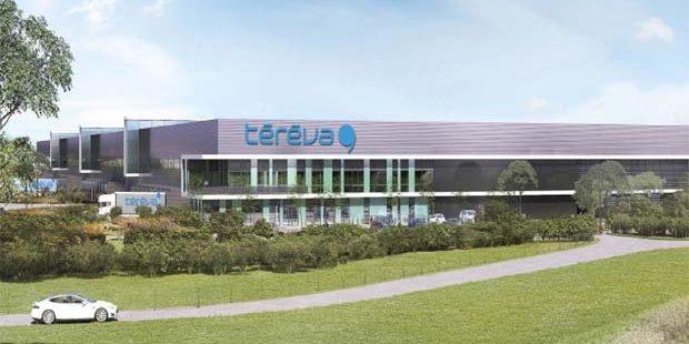 Image 3D de la plateforme logistique de Tereva.