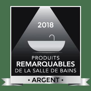 Logo Produits remarquables de la salle de bains 2018, argent