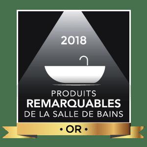 Logo Produits remarquables de la salle de bains 2018, Or