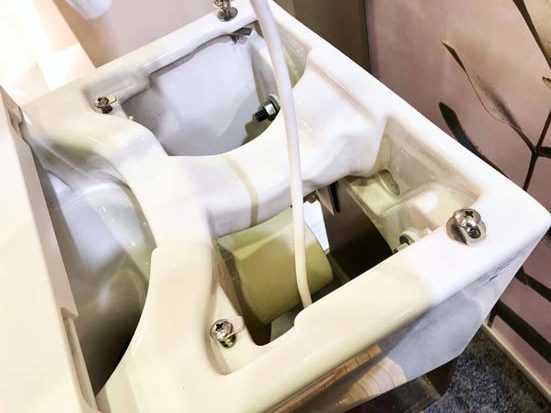 Intérieur du WC lavant Axent One.