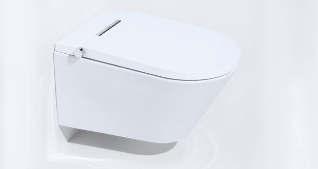 Le WC lavant Axent One ressemble à un WC classique.