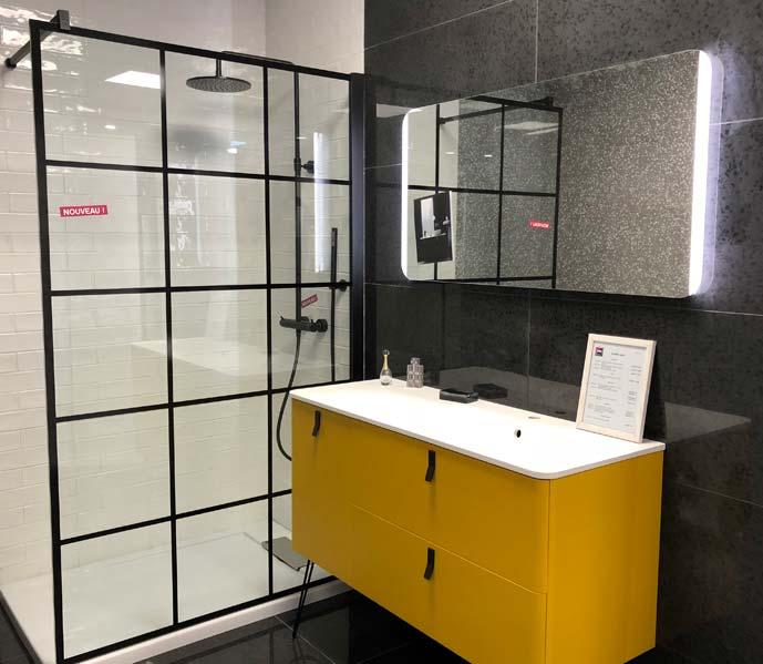 Salle de bains industriel dans le magasin VM Royans