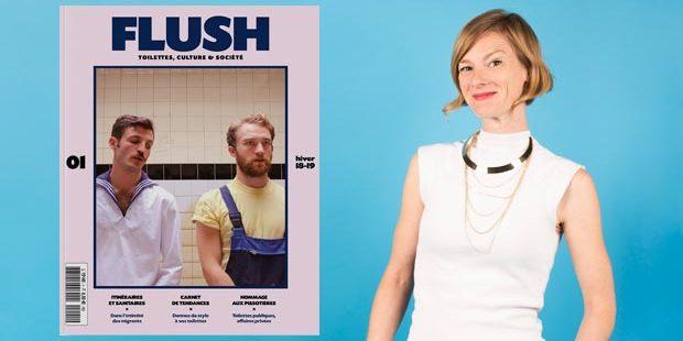 Aude Lalo et Flush magazine