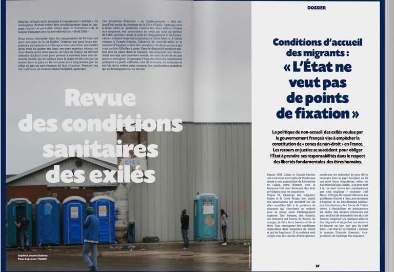 Pages intérieures de Flush Magazine