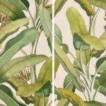 Carrelage Jungle, illustré avec des feuilles délicates