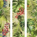 Carrelage Jungle, avec des feuilles de palme stylisées