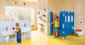 O.Novo Kids de Villeroy & Boch, ambiance dans des sanitaires publics