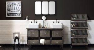 Meuble vasque console de style industriel