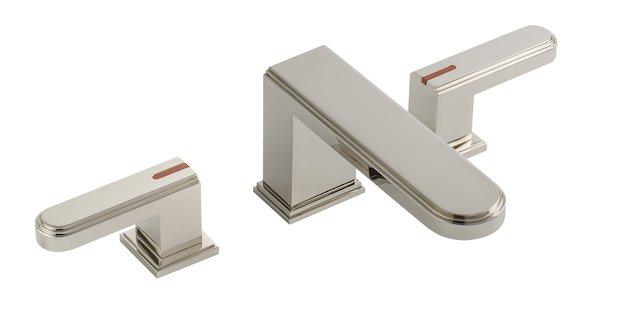 Collection Transatlantique de Cristal & Bronze : le mélangeur de lavabo 3 trous