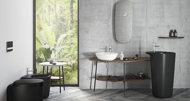 Plural de Vitra : ambiance avec un lavabo totem